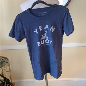 Life Is Good Women's Crusher Tee Size Medium EUC